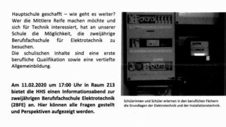 Infoabend Heinrich Hertz Schule